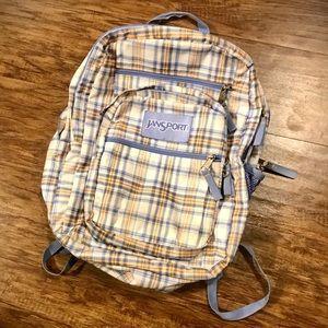 Jansport plaid backpack